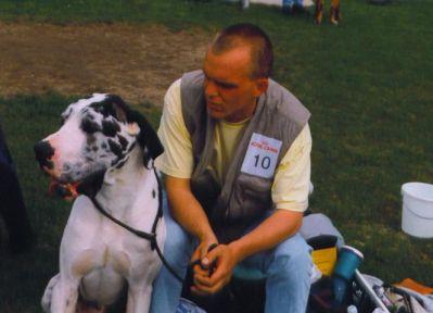 Michael mit Snoopy